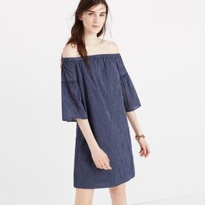 MADEWELL off the shoulder bell sleeve dress 8
